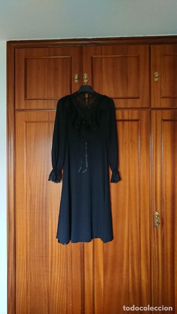 VESTIDO NEGRO DE CEREMONIA , TALLA 46, SIN USO (Vintage - Moda - Mujer)