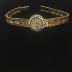 Vintage: VINTAGE LONGINES 19K YELLOW GOLDLADIES WATCH WITH DIAMONDS. Lote 260710395