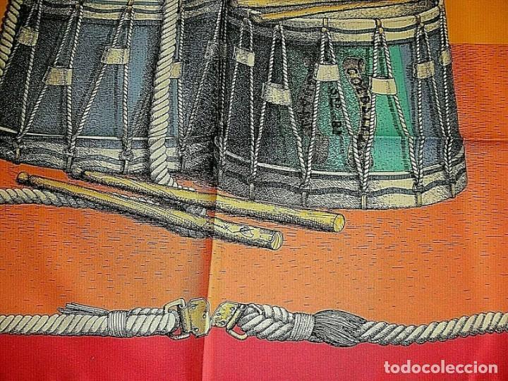 Vintage: PIERO FORNASETTI MILANO PAÑUELO FOULARD DE SEDA FIRMADO 90 x 90 CM ITALIA NUEVO - Foto 2 - 262344880