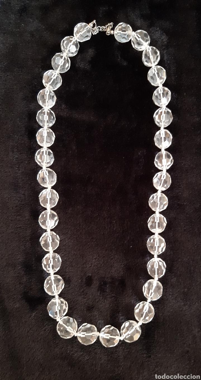 Vintage: Collar de cristal macizo facetado con 34 bolas. ROGAMOS LEER BIEN LAS CONDICIONES ANTES DE PUJAR. - Foto 2 - 263030475
