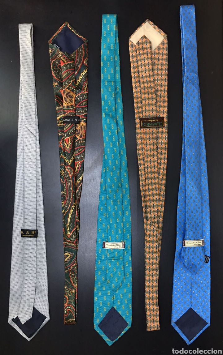 Vintage: Lote de 5 corbatas en perfecto estado. Buenas marcas, El Corte Inglés. - Foto 2 - 263054585