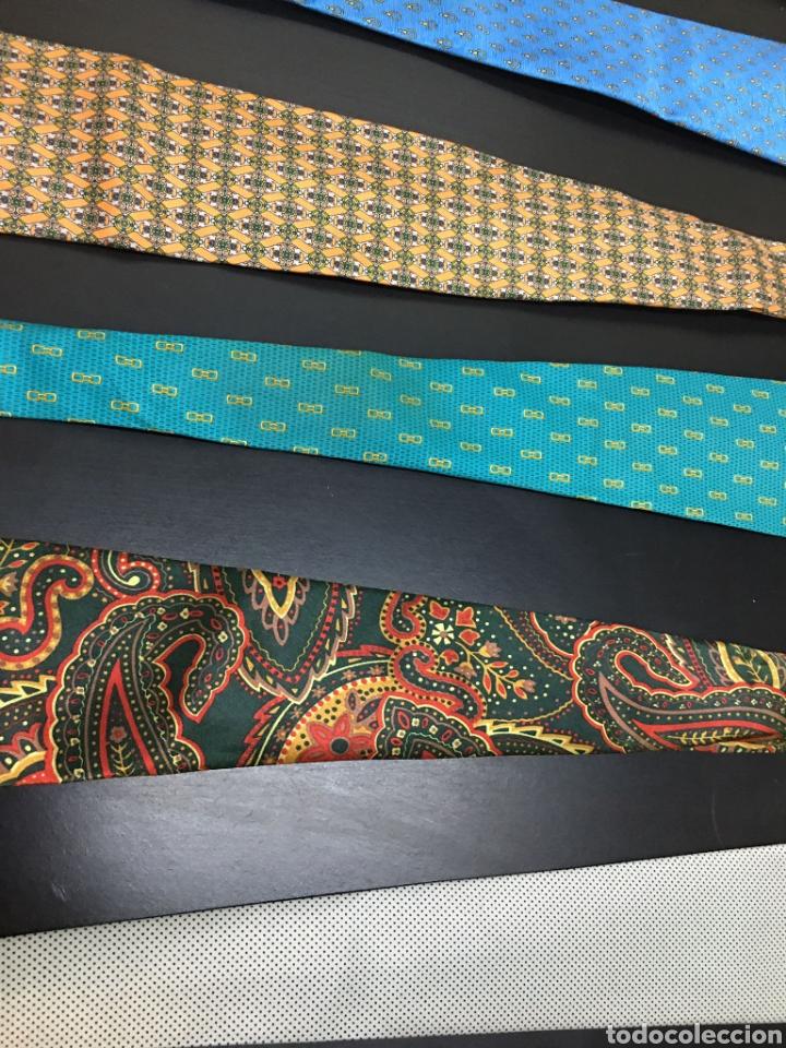 Vintage: Lote de 5 corbatas en perfecto estado. Buenas marcas, El Corte Inglés. - Foto 3 - 263054585