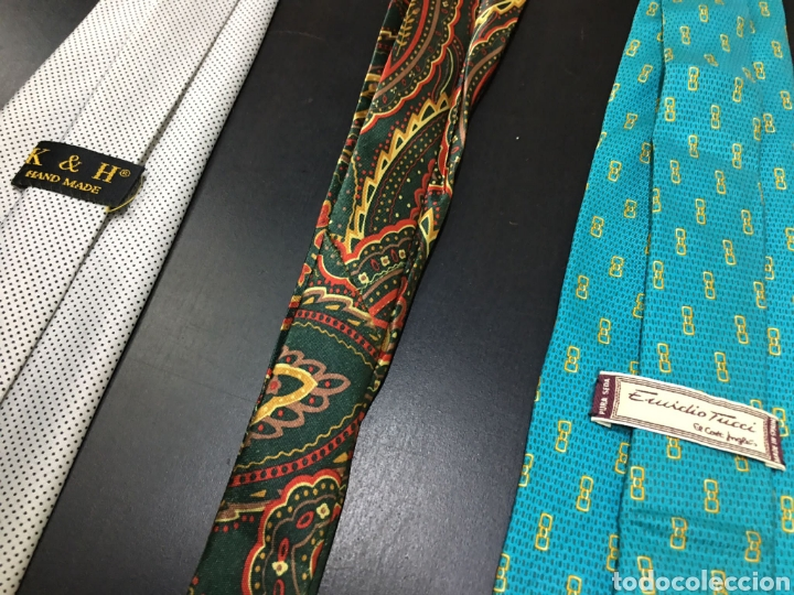 Vintage: Lote de 5 corbatas en perfecto estado. Buenas marcas, El Corte Inglés. - Foto 8 - 263054585