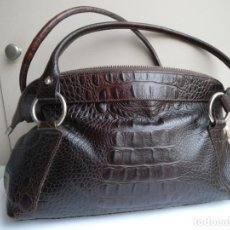 Vintage: BOLSO PIEL PRUNE. Lote 263063345