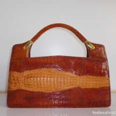 Vintage: BOLSO VINTAGE EN PIEL DE COCODRILO. Lote 263114465