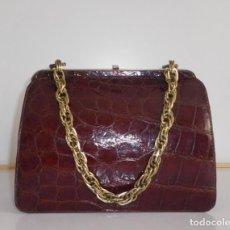 Vintage: BOLSO PIEL DE COCODRILO. Lote 263121830