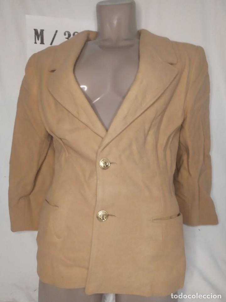 BLAZER MANGA LARGA MARRON CLARO TALLA M (Vintage - Moda - Mujer)