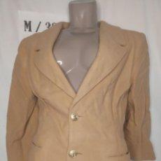 Vintage: BLAZER MANGA LARGA MARRON CLARO TALLA M. Lote 263209415