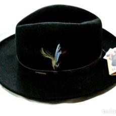 Vintage: COMBRERO PARA CABALLERO VITA FELT STETSON SINCE 1865, MODELO QUEBEC, TALLA L, NUEVO CON ETIQUETA. Lote 264085180