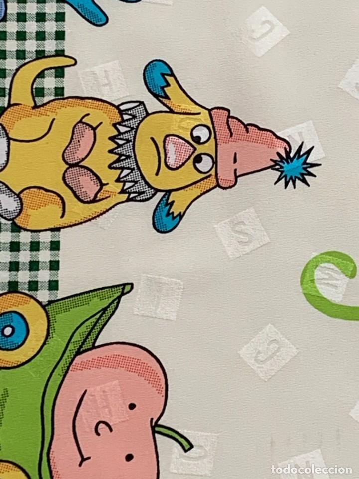Vintage: PAÑUELO MOSCHINO MOTIVOS INFANTILES JUGUETES PELUCHES SEDA DECORACIONES LETRAS ANIMALES 86X88CMS - Foto 9 - 265796899