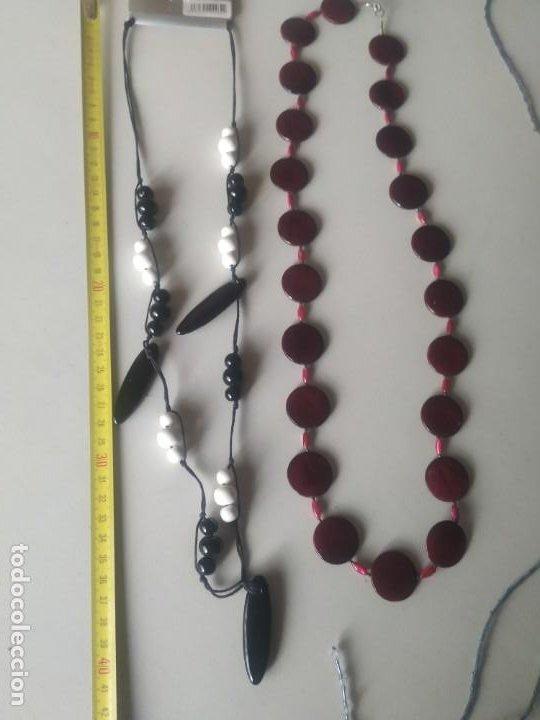 Vintage: Lote 3 collares de diferentes modelos. Largos. Abalorios. Bisutería. - Foto 9 - 266160258