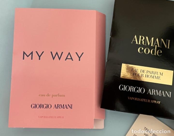 Vintage: Neceser de bolso de Giorgio Armani. Nuevo con muestras de perfume y colorido. - Foto 5 - 266912384