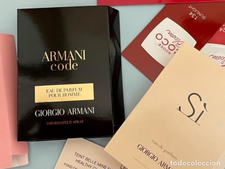 Vintage: Neceser de bolso de Giorgio Armani. Nuevo con muestras de perfume y colorido. - Foto 6 - 266912384