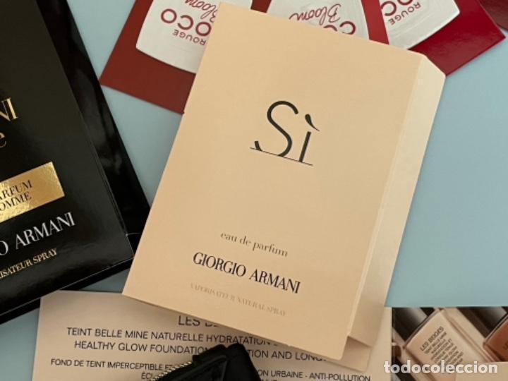 Vintage: Neceser de bolso de Giorgio Armani. Nuevo con muestras de perfume y colorido. - Foto 7 - 266912384