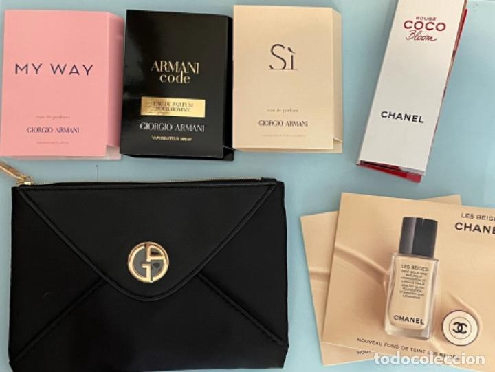 Vintage: Neceser de bolso de Giorgio Armani. Nuevo con muestras de perfume y colorido. - Foto 16 - 266912384