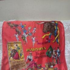Vintage: PAÑUELO GRANDE.PAMPLONA 7 DE JULIO SAN FERMIN. Lote 267894254