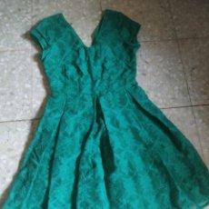 Vintage: PRECIOSO VESTIDO VERDE I CODE. ENCAJE. TALLA 34. CIERRE ESPALDA CREMALLERA INVISIBLE. FORRO.. Lote 268149429