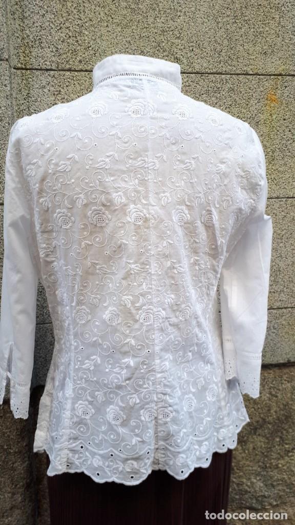 Vintage: BLUSA BLANCA DE ALGODÓN BORDADO - Foto 3 - 268618749