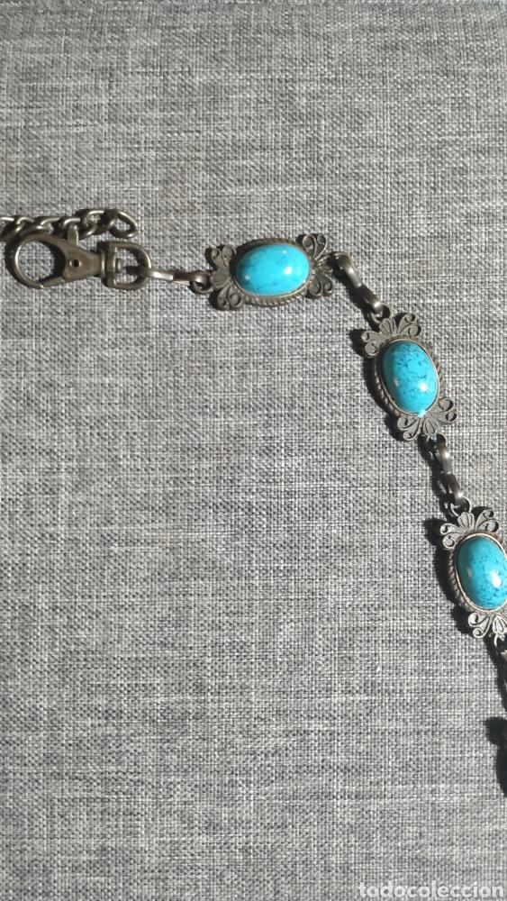 Vintage: Cinturón de cobre y piedras color turquesa - Foto 2 - 268883084