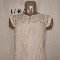 Vintage: BLUSA PUNTOS ROSA CLARO TALLA L. Lote 269093858