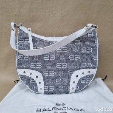 Vintage: BOLSO BALENCIAGA EN LONA GRIS CON FUNDA. Lote 269258093