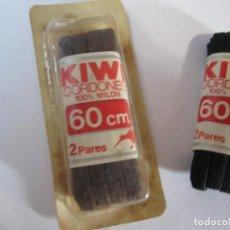 Vintage: LOTE 2 CORDONES ZAPATO KIWI 100% NYLON VINTAGE. Lote 269336573