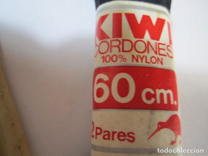 Vintage: lote 2 cordones zapato kiwi 100% nylon vintage - Foto 2 - 269336573