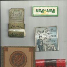 Vintage: PAPEL FUMAR Y COMPLEMENTOS , 5 PIEZAS. Lote 269399478