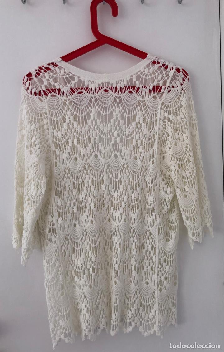 Vintage: Blusa Crochet Máquina - Foto 2 - 269479548