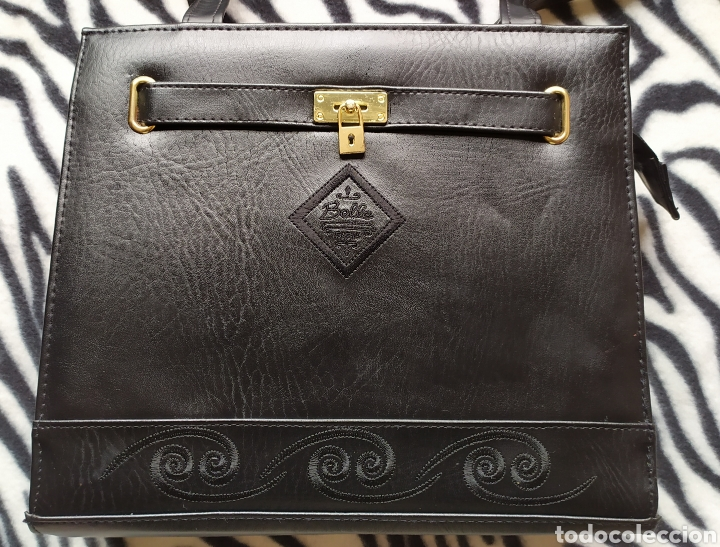 Vintage: Elegante Bolso Vintage BELLE PARIS; Prácticamente NUEVO. PERFECTAMENTE CONSERVADO. Años 70. - Foto 7 - 270689683