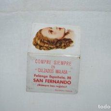 Vintage: ESPEJITO PARA BOLSOS , CALZADOS MALAGA , SAN FERNANDO .. Lote 270696153