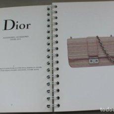 Vintage: DIOR, COFFEE TABLE BOOK, ACCESOIRES 2013, 49 PAGINAS, 14X21CM. Lote 271579088