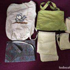 Vintage: LOTE DE BOSAS DE TELA O SAQUITOS, 11 PIEZAS, VARIOS TAMAÑOS Y DISEÑOS, A CLASIFICAR. Lote 276241728