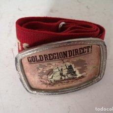 Vintage: HEVILLA DE METAL GOLDREGIONDIRECT, CON CINTURÓN ELÁSTICO, UNOS 8.5 X 6 CMS.. Lote 276373358