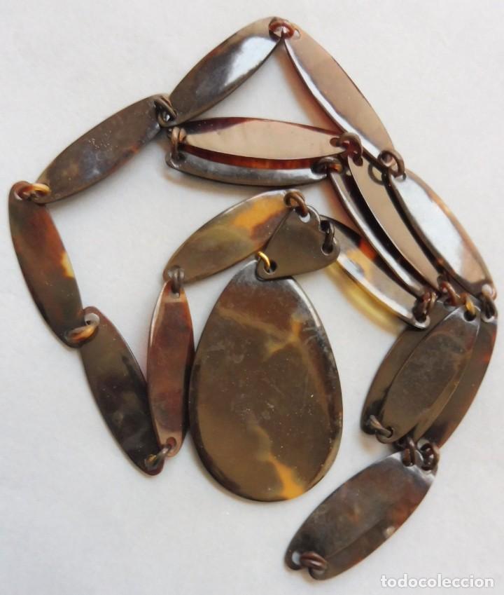 COLLAR DE CAREY - TORTUGA (Vintage - Moda - Complementos)