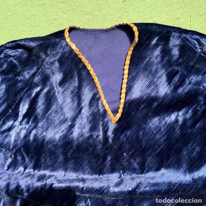 Vintage: Antiguo poncho infantil, terciopelo azul - Vintage - Foto 2 - 277188528
