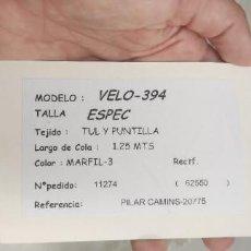 Vintage: VELO DE NOVIA SIN ESTRENAR PEPE BOTELLA. Lote 277278668