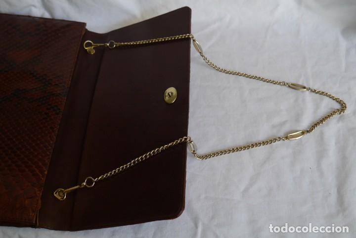 Vintage: Bolso fabricado en piel de serpiente - Foto 9 - 278319793