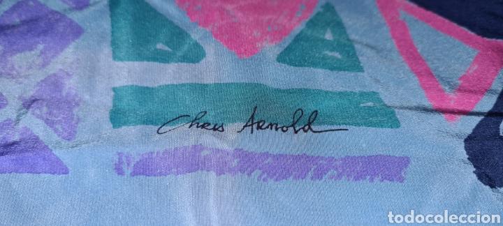Vintage: Precioso y elegante pañuelo de seda Checkmate by Chris Arnold. - Foto 3 - 278545278