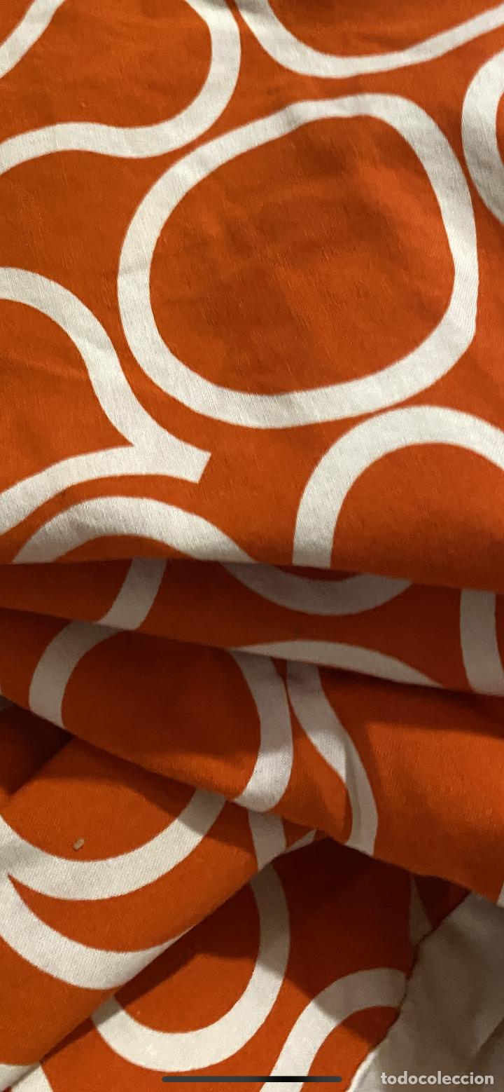 Vintage: Sabanas vintage original funda nordica años 60 doble cara naranja lunares ropa de cama retro hippi - Foto 2 - 285642023