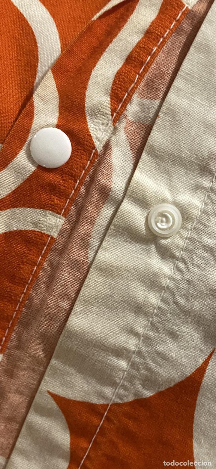 Vintage: Sabanas vintage original funda nordica años 60 doble cara naranja lunares ropa de cama retro hippi - Foto 4 - 285642023