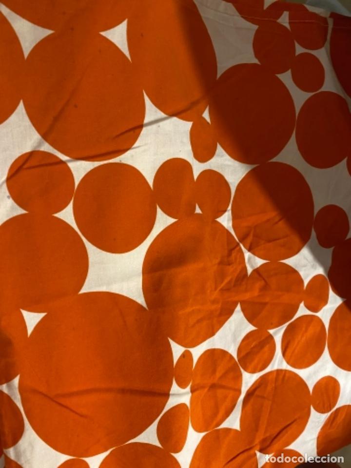 Vintage: Sabanas vintage original funda nordica años 60 doble cara naranja lunares ropa de cama retro hippi - Foto 6 - 285642023