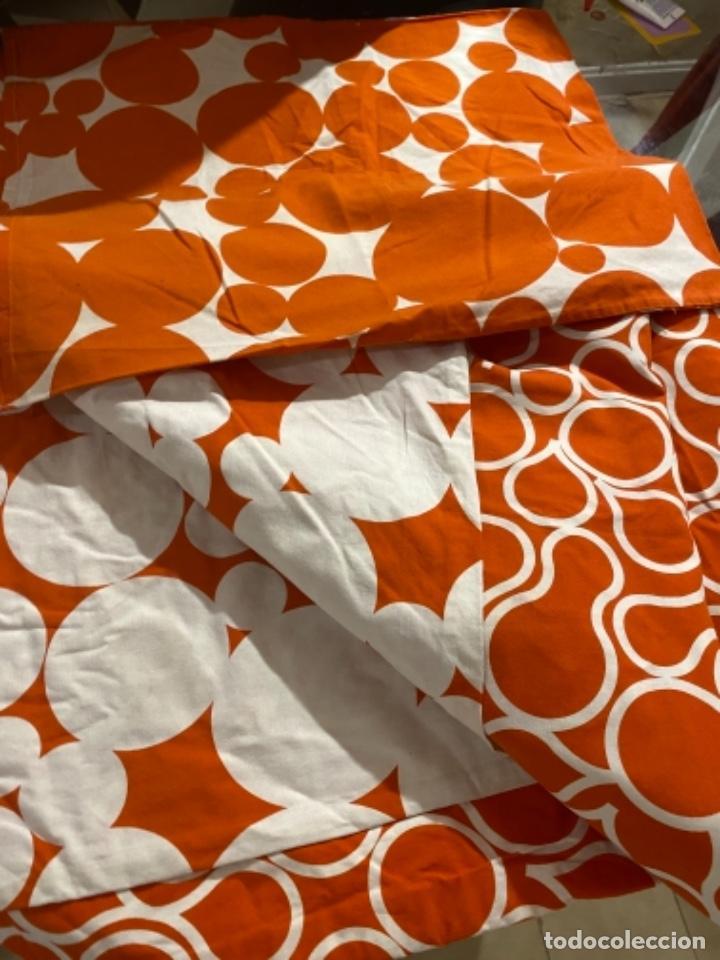 Vintage: Sabanas vintage original funda nordica años 60 doble cara naranja lunares ropa de cama retro hippi - Foto 7 - 285642023