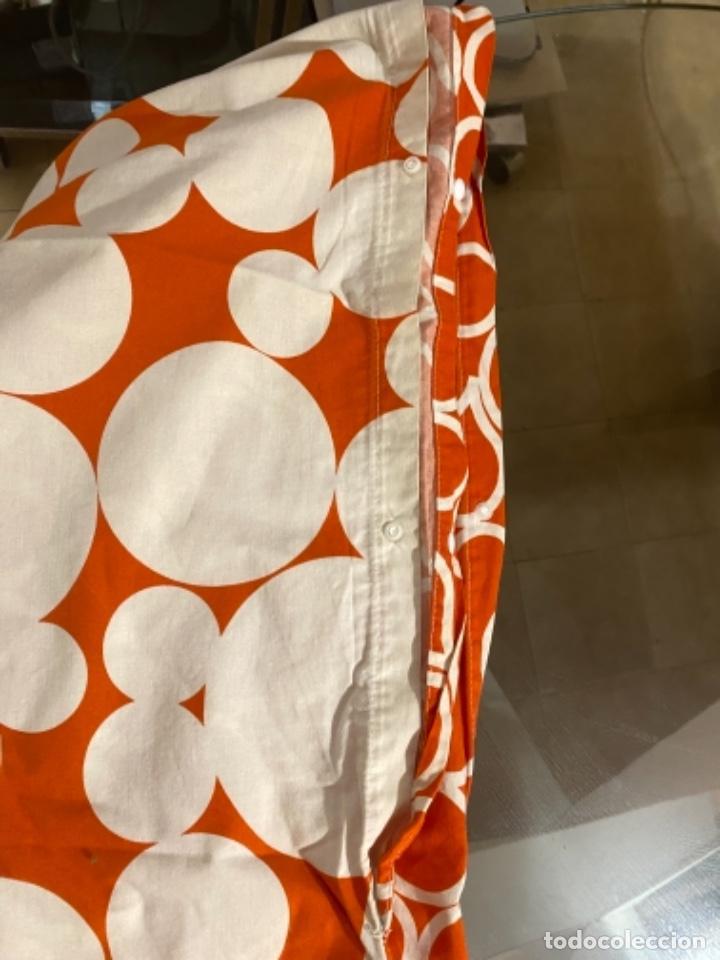 Vintage: Sabanas vintage original funda nordica años 60 doble cara naranja lunares ropa de cama retro hippi - Foto 8 - 285642023