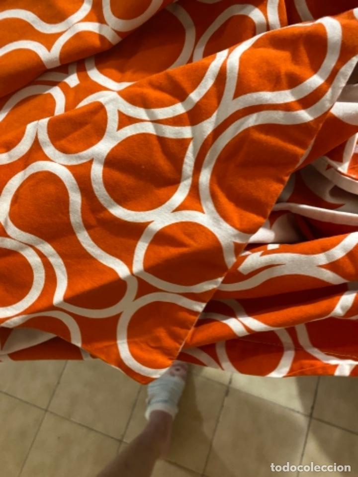 Vintage: Sabanas vintage original funda nordica años 60 doble cara naranja lunares ropa de cama retro hippi - Foto 10 - 285642023
