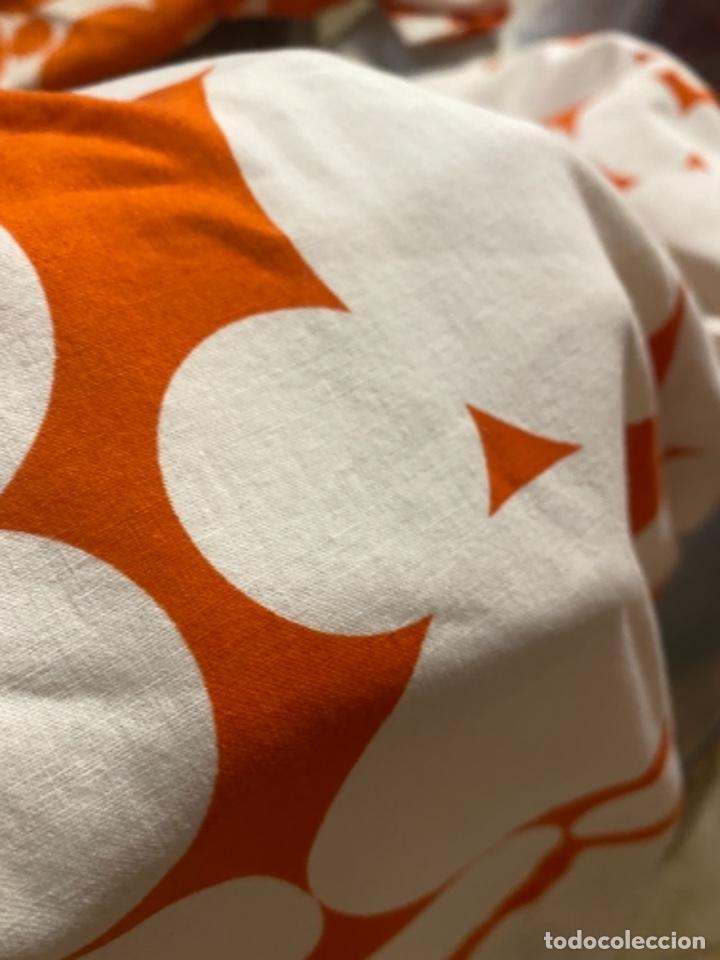 Vintage: Sabanas vintage original funda nordica años 60 doble cara naranja lunares ropa de cama retro hippi - Foto 13 - 285642023