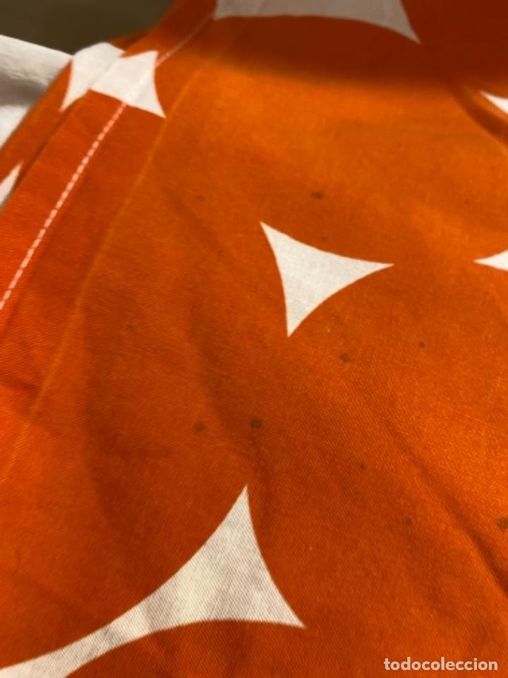 Vintage: Sabanas vintage original funda nordica años 60 doble cara naranja lunares ropa de cama retro hippi - Foto 14 - 285642023