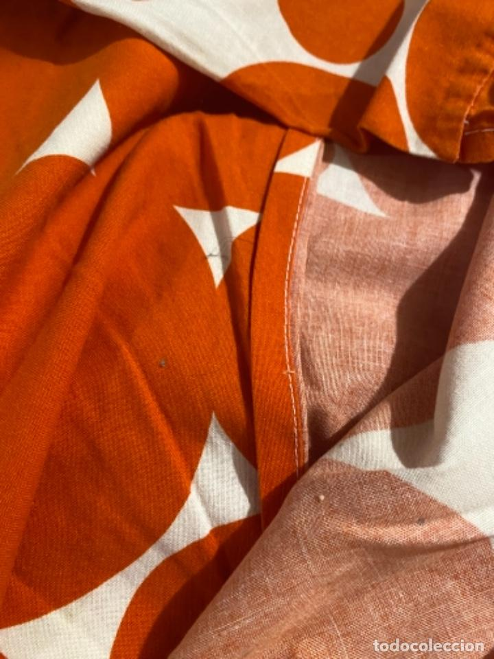 Vintage: Sabanas vintage original funda nordica años 60 doble cara naranja lunares ropa de cama retro hippi - Foto 15 - 285642023