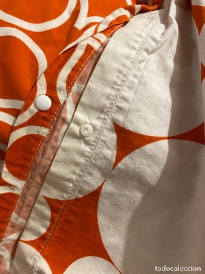 Vintage: Sabanas vintage original funda nordica años 60 doble cara naranja lunares ropa de cama retro hippi - Foto 16 - 285642023