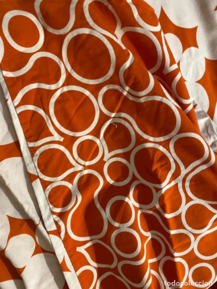 Vintage: Sabanas vintage original funda nordica años 60 doble cara naranja lunares ropa de cama retro hippi - Foto 17 - 285642023